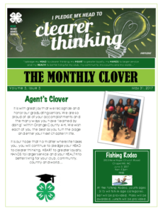 Cover photo for The Monthly Clover - May 2017 Edition
