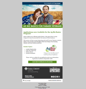 Cover photo for Ag Biz Basics for  Farmer Veterans