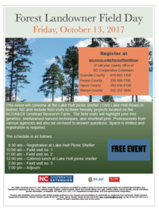 Cover photo for Forestry Field Day