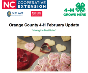 Cover photo for Orange County 4-H February Update