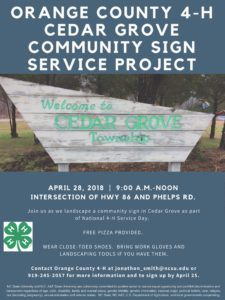 Cover photo for National 4-H Day of Service April 28