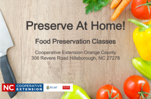 Cover photo for Preserve at Home! Classes
