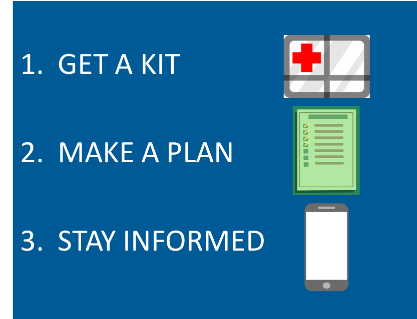 3 Steps Preparedness flyer image