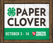 Cover photo for Fall 4-H Paper Clover Campaign October 3-14, 2018