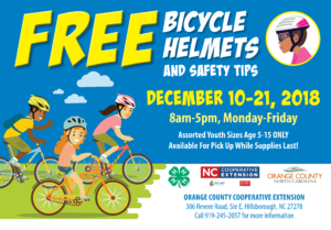 Cover photo for Bicycle Helmet Distribution December 10-21