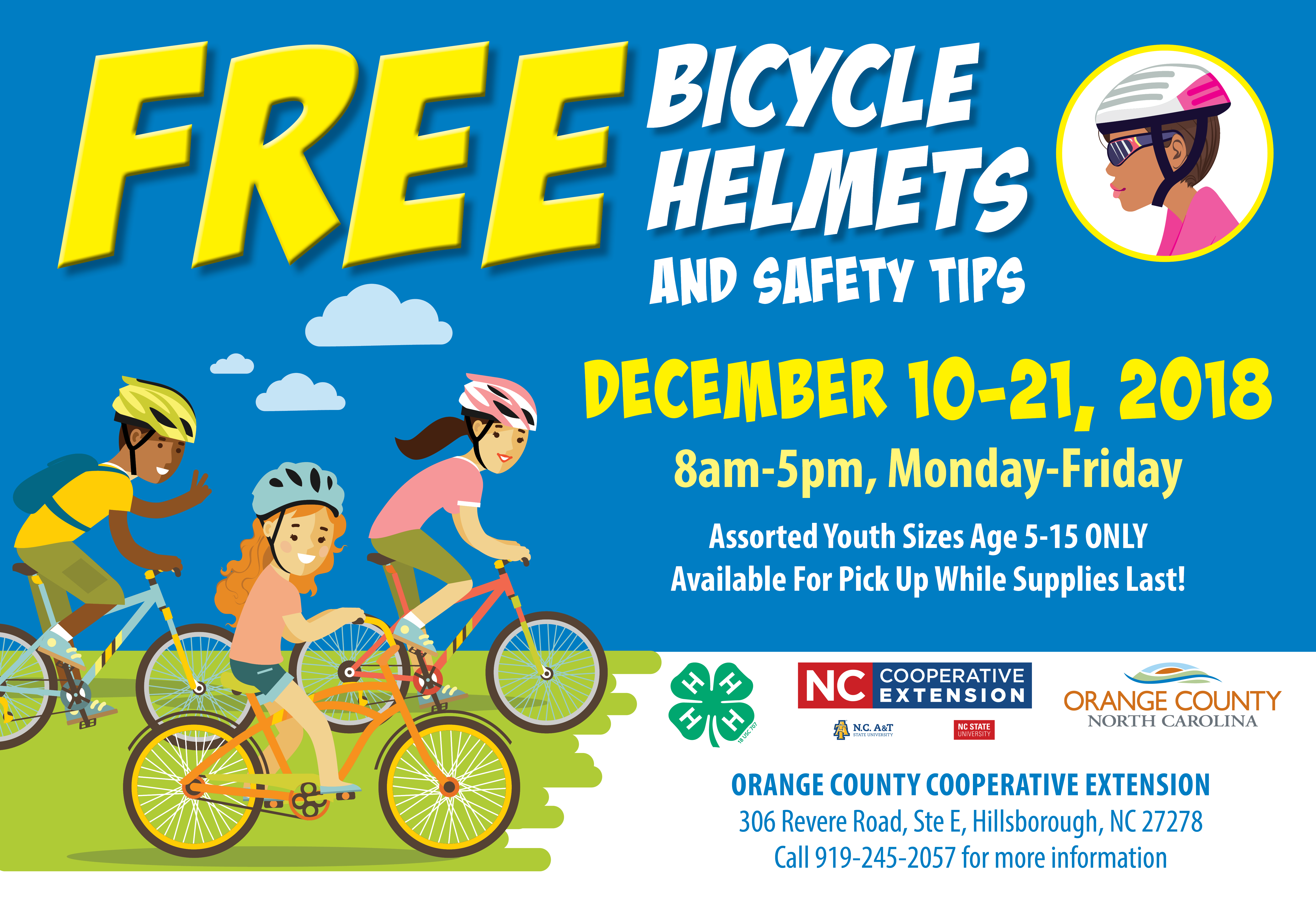 Bike helmet flyer image