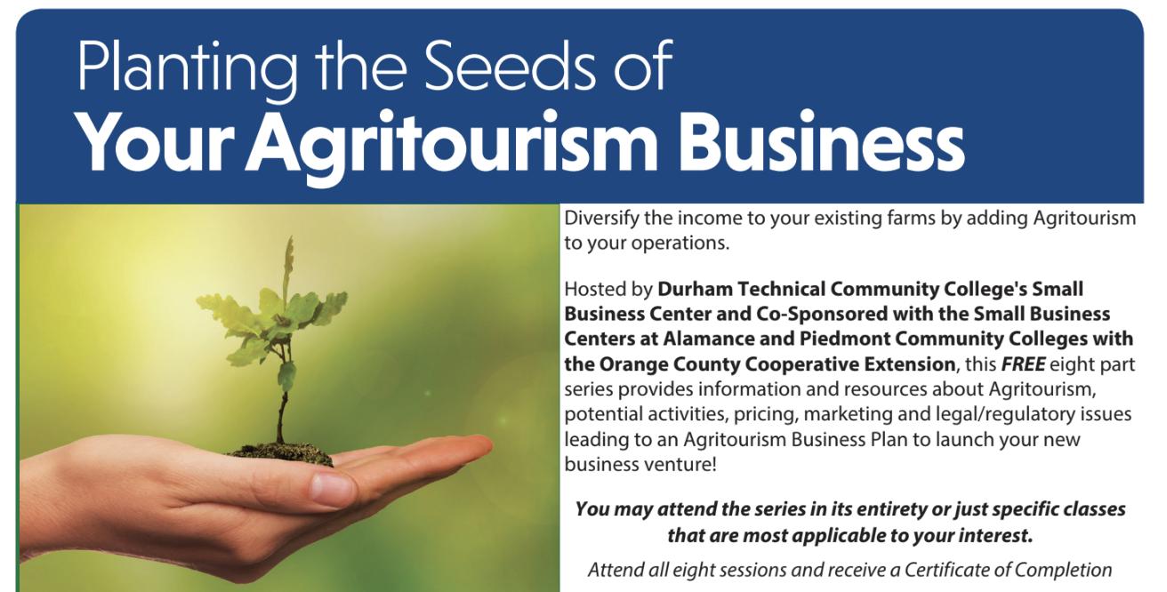 Agritourism flyer image
