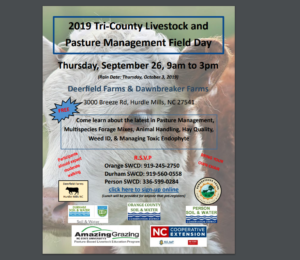 2019 Tri-County Livestock and Pasture Management Field Day