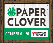 Cover photo for 4-H Paper Clover Campaign October 9-20