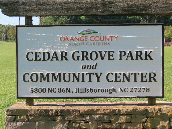Cedar Grove Center sign