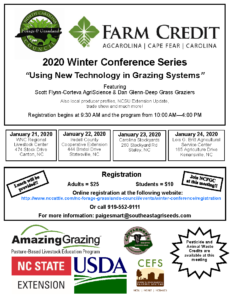 "Cover photo for 2020 Winter Conference Series  ""Using New Technology in Grazing Systems"""