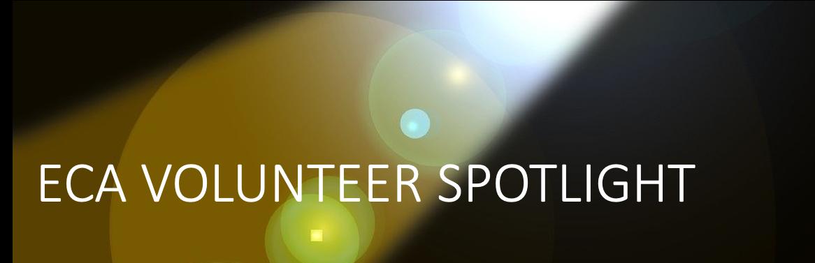 Spotlight shinning on fraze ECA Volunteer Spotlight