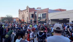 Cyclists Finish a Race