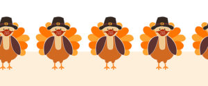 Thanksgiving turkey wearing face masks