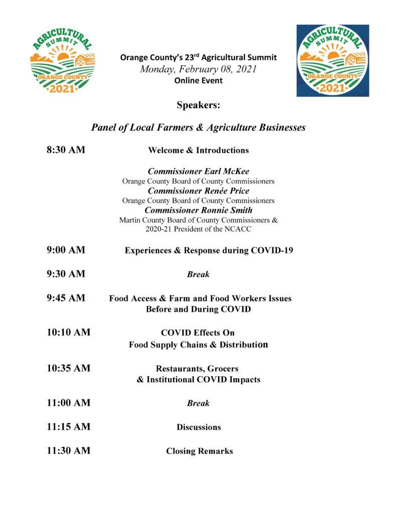 Summit agenda day 1