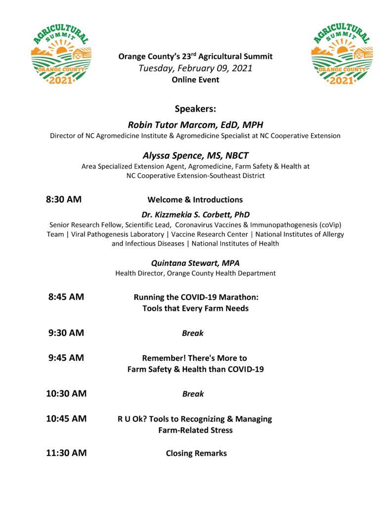 Summit agenda day 2