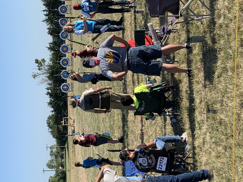 People participating in archery